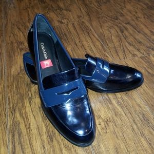NEW Calvin Klein Celia leather penny loafers